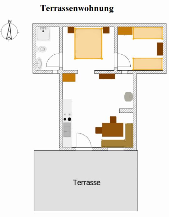 Terrassenwohnung Lageplan